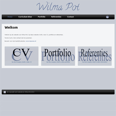 CV - portfolio website - CV Wilma Pot